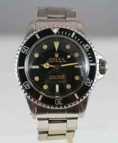 1963 Rolex Submariner 5512 PCG Cornino gilt underline
