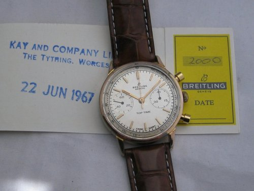1967 Breitling Top Time - serviced with paper
