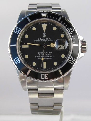 1984 Rolex Submariner Date 16800 B&P