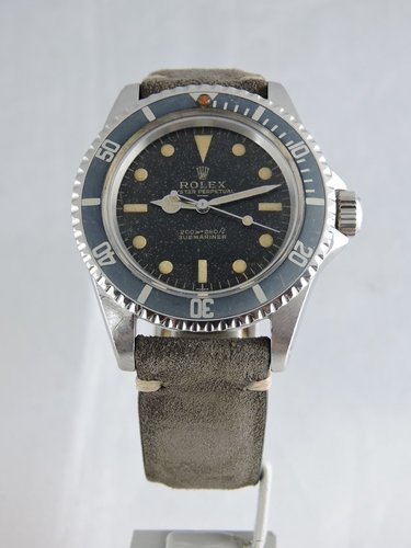 1963 Rolex Submariner 5513 pcg gilt underline