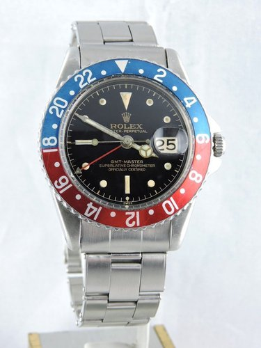 1961 Rolex GMT Master 1675 PCG, Gilt Exclamation Dial, Full Set