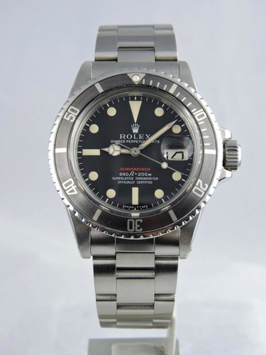 1971 Rolex Red Submariner 1680 - box & papers