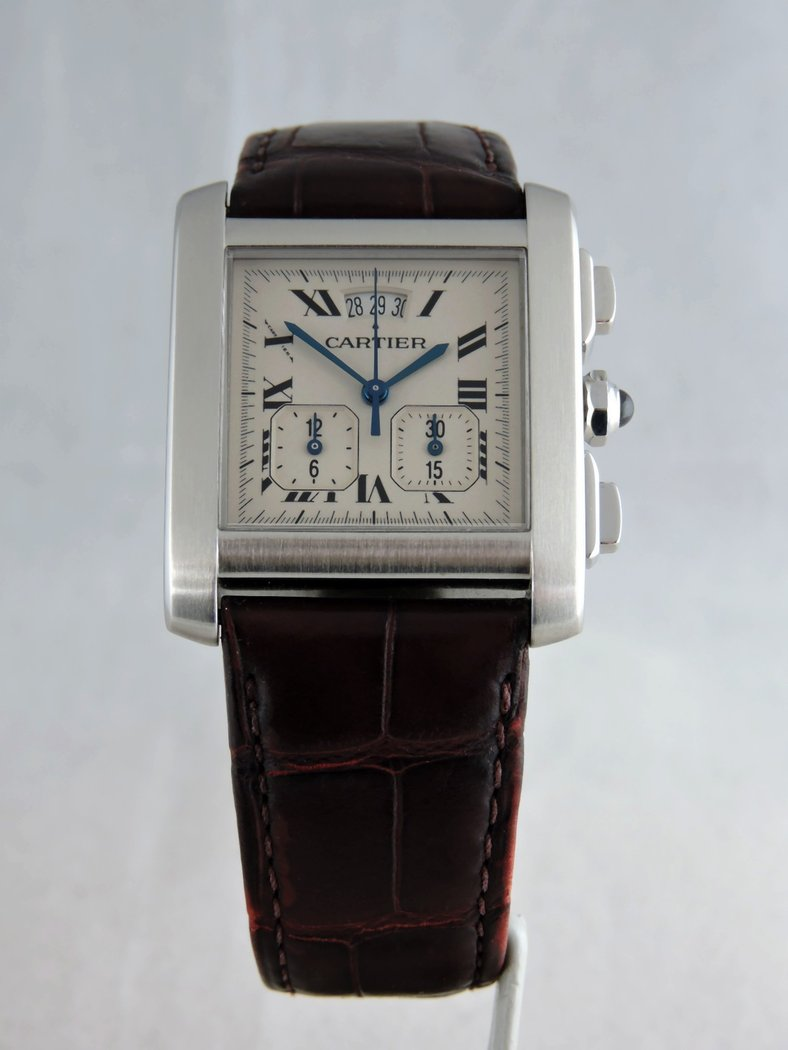 18faa067769e 2002 Cartier Tank Francaise Yearling Chronograph XXL - Vintage-Oyster
