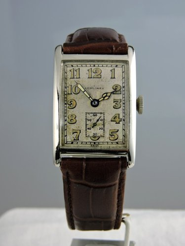 1927 Longines Square 14k White Gold Watch