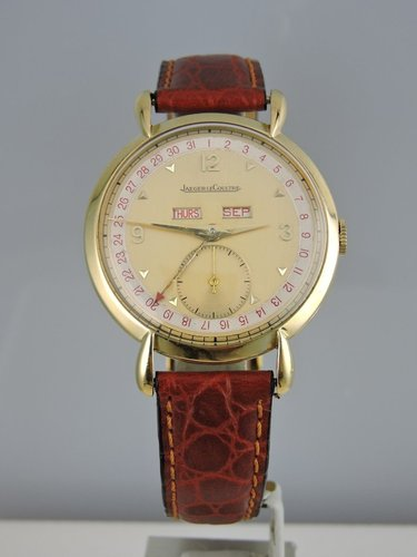 1944 Jaeger LeCoultre Triple Date 18k - serviced
