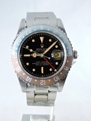 1961 Rolex GMT Master 1675 PCG, Gilt CR Dial