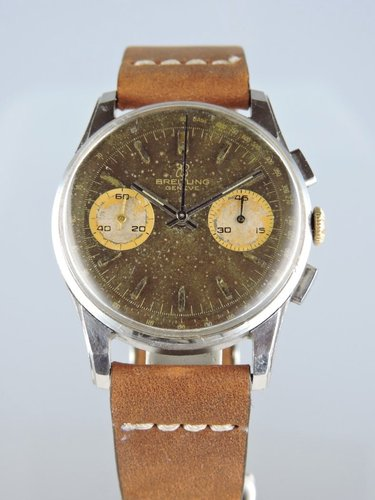 1960s Breitling Chocolate-Dial Chronograph 1782