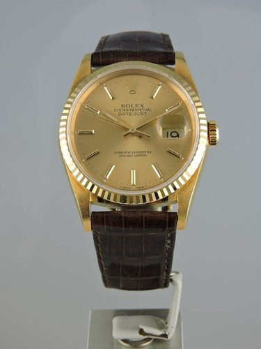 1989 Rolex Datejust 18k Yellow Gold