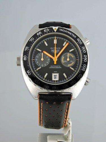1972 Heuer Autavia Orange Boy 11630 - serviced