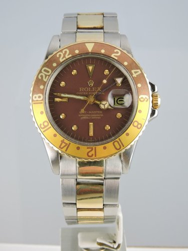 1970 Rolex GMT Master 1675 18kt/steel - Box&Papers