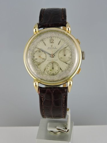1940s 37mm Rolex Antimagnetique Chronograph 18k/steel